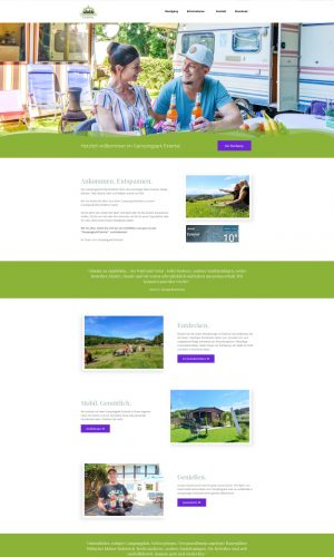 Campingpark Extertal Website Screenshot