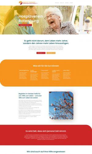 hospizverein Rotenburg Website Screenshot