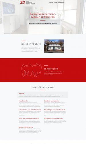 kanzlei-zk Website Screenshot