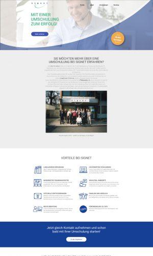Umschulung Signet Website Screenshot